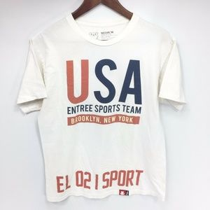 ENTREES USA Sports Team T-shirt M Made in USA